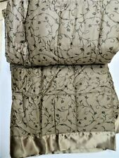 New Northern Nights 500Tc Queen Egyptian Cotton Down Blanket Choc.-Allergy Free