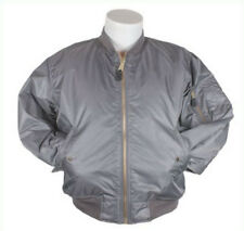 Bomber Jacket Gray Fox Outdoor Nylon Flight MA-1 Men's Grey Military 2XL NEW