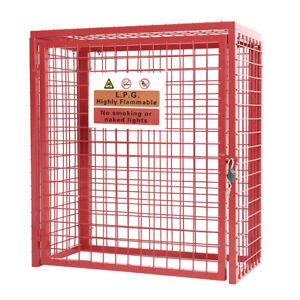 Collapsible 90CM 2x Propane Gas Cylinder Storage Bottle Steel Mesh Cage Lockable
