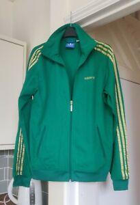 Rare Adidas Originals Beckenbauer Green Gold Track Top Size Medium M