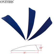 "200pcs 3"" Dark Blue Shield Cut Archery Fletches Feather Fletching Arrow Feathers"