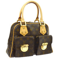 LOUIS VUITTON MANHATTAN PM HAND BAG PURSE VI0077 MONOGRAM CANVAS M40026 JT08650d