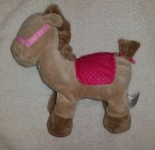 Carter's Just One Year Horse Pony Plush Bean Bag Baby Toy Pink Saddle Flower
