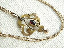 Garnet Pendant/Locket Edwardian Fine Jewellery