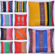Wholesale Lot Set Of 100 PC Cushion Cover Silk Pillow Sham Vintage Cushion 40 Cm