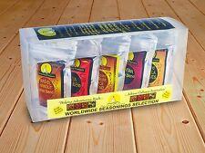 Seasoned Pioneers Adventurous Worldwide Spice Blends 5 x Resealable Packets Gift