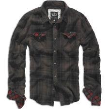 Brandit Camicia Uomo Casual Quadri Militare Check Shirt Duncan S Brown/black