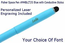 Fisher #M4 Series / Personalized Blue Space Pen with Conductive Stylus #M4BLCT/S