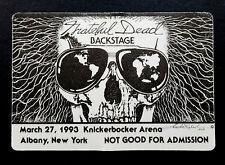 Grateful Dead Backstage Pass Sunglasses Skeleton World Map Albany NY 3/27/1993