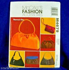 McCall's 4679 Women's Day 6 Soft Handbag Patterns New!