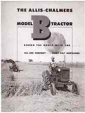 Allis Chalmers Model B Tractors Sales Brochure Manual TL-1124-5403