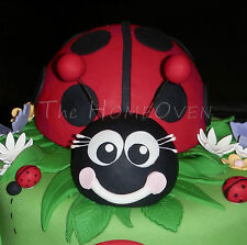 1 X Large Ladybug / Ladybird Fondant  Cake Topper For Birthdays