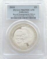 2010 Royal Mint Royal Engagement £5 Five Pound Silver Proof Coin PCGS PR69 DCAM