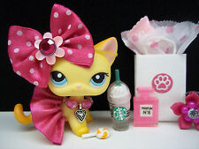 LITTLEST PET SHOP CUTE #339 BROOKE HAYES KITTY SKIRT BOW SHOPPING ACCESSORIES