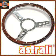 "14"" Astrali® Semi Dished Classic Car Wood Rim Steering Wheel + Boss CLASSIC MINI"