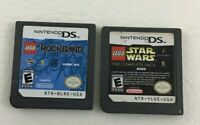 Nintendo DS Game Cartridge 2 Game Lot Lego Star Wars Lego Rockband Rated E