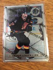 LEAF DONRUSS HOCKEY 1996 TREVOR LINDEN PREFERRED STEEL CARD 24/63 METAL CANUCKS