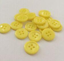 20 X Yellow 15 mm 4 Hole Plastic Buttons- Australian Supplier
