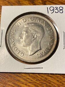 1938 CANADA SILVER DOLLAR..NICE BU..
