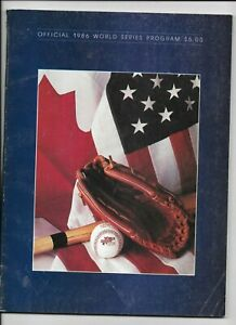 1986 Official World Series Program New York Mets v. Boston Red Sox Nice conditio
