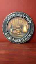 New Audrey's wooden decorative rustic/primitive themed plates Free shipping