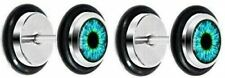 Plug Eyeball Fake Ear Plug 16g Black Human Eye Aqua Explosion Iris Cheater