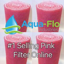 FOUR 10' ROLLS PINK AQUARIUM FILTERS WET DRY FRESH SALT WATER FILTER PAD LOT