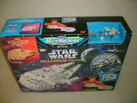 STAR WARS MICRO MACHINES MILLENNIUM FALCON & FIGURES NEW MISB PLAYSET