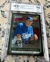 CLAYTON KERSHAW 2008 Bowman CHROME Rookie Card RC BGS BCCG 10 Dodgers Champs $$$