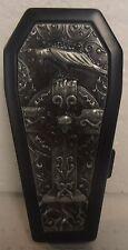Coffin Biker Metal Cigarette Case, Black, Crow/Raven on a Cross, BRAND NEW