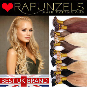 Hair extensions stick i tip micro ring double drawn 1g or 0.5g human remy hair