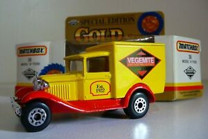 MATCHBOX No 38 MODEL A FORD VEGEMITE Special Edition Gold Series Model