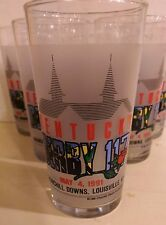 Kentucky Derby Mint Julep Glasses 1991, Set of 6, Winner: Strike the Gold