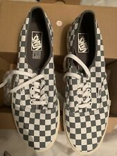 Vans Men's Checkerboard Grey White Trainers Shoes UK 11
