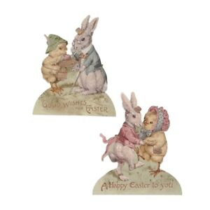 Bethany Lowe Easter Set Of 2 Different Spring Friends Dummy Boards RL9803