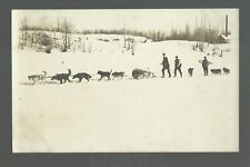 Hazelton B.C. CANADA RP c1910 MAIL SLED Dog Sled TIPPED OVER nr Kitwanga #3