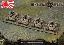 Dystopian Wars Empire of the Blazing Sun Ho I Bombard DWBS24 6 models with card