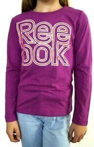 Reebok Longsleeve Kinder Mädchen Sweatshirt lila / fuchsia NEU Gr. 104 glitzer