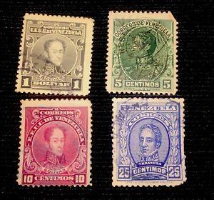 1911-1915 Venezuela Stamps Leaders Revolution. Used