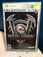 Xbox Platinum Hits Mortal Kombat: Deadly Alliance  (Xbox, 2002)COMPLETE