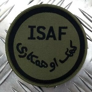 Genuine British ARMY ISAF International Security Assistance Force OD Badge IS4