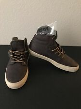 VANS Alcon Brown Leather Casual Skate Shoes Boots Size 7.5 Mens New