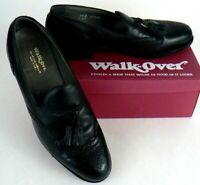 WALK OVER Men's Dress Shoes Oxfords Sz 9.5  Black Leather WING TIP USA Made
