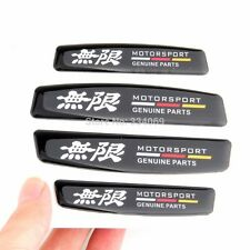 4pcs JDM Mugen Door Edge GUARD Fender Protect guard Anti Scratch Emblem Sticker
