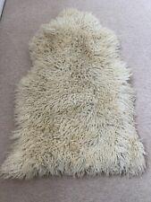 Real 100% Large SheepSkin Rug White