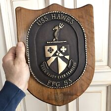 NoRsv USS HAWES SHIP BRONZE BRASS PLAQUE FFG 53 Guided Missile Frigate NAVY Cole