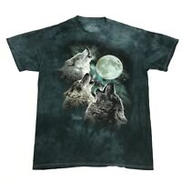 The Mountain Wolf Shirt Men's Size Medium Loose Blue Art Graphic Tee MADE IN USA