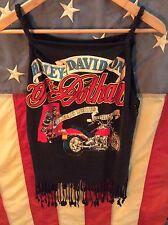 Vintage Harley Davidson fringe tank top 3D emblem 80s 70s rare biker chopper vtg