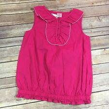 Gymboree Picot Trim Ruffle Top Island Lily Pink 9 NEW NWT Tank Sleeveless