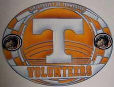"""Stained Glass Window Sticker NCAA Tennessee Volunteers NEW 17""""x11"""" Made in USA"""